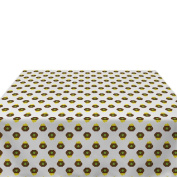 Pots of Gold White Milliken Polyester Tablecloths - Assorted Sizes