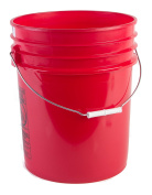 Hudson Exchange Premium 90 Mil HDPE Bucket with Handle, 18.9l Red