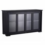 Costzon Storage Sideboard Home Kitchen Cupboard Buffet Cabinet w/Sliding Door Window