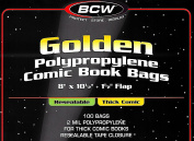 BCW Golden Resealable Thick Bags and Boards - 100 Pack By BCW