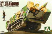 Takom 1:35 French Heavy Tank St.Chamond Early Iron Mask Man Plastic Kit #2002