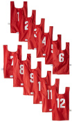 US Games Numbered Nylon Pinnies, Youth Sizes, One Dozen