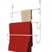 Over-the-Door Chrome Metal Towel Rack-White