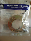 Everbilt Metal Pole Supports, Satin Brass