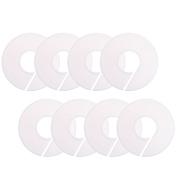 COSMOS 8 PCS Plain Plastic Round Circle Hanger Garment Clothing Size Dividers Closet Sorting Storage Divider