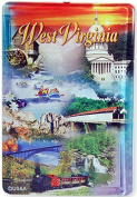 Magnet Thick Lucite West Virginia Montage