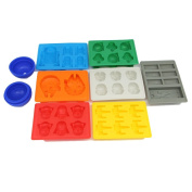 Set of 8 Star Wars theme Silicone Silicone Ice Trays Fondant Moulds, Stormtrooper, Darth Vader, X-Wing Fighter, Millennium Falcon, R2-D2, Han Solo, Boba Fett, and Death Star