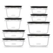 Rubbermaid Premier food storage plastic and Easy Fine Lids Grey Set of 16