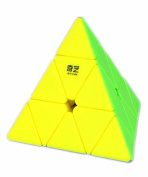 D-FantiX Qiyi Pyraminx Stickerless Speed Cube Triangle Magic Cube Puzzle Christmas Toys Gifts for Kids