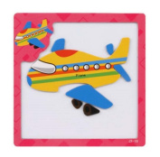 Creative Plane Magnetic Puzzles Kids Children Educational Puzzle Toys Games