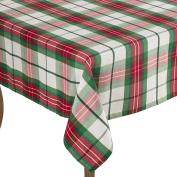 Multi Christmas Holiday Plaid Design Holiday Tablecloth, 180cm Square