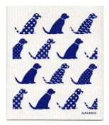 Swedish Dishcloth, BLUE DOGS