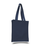 (1 Dozen)12 Pack- Reusable Canvas Tote Bag / Book Bag with Gusset