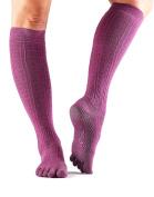 ToeSox Scrunch Women's Full Toe Grip Socks for Yoga, Ballet, Barre, and Pilates