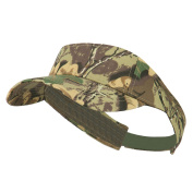 Camouflage Cotton Twill Visor - Khaki Brown