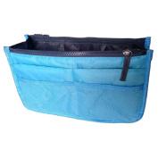 Useful Practical Handbag Purse Dual Zipper Organiser Cosmetic Storage Bag