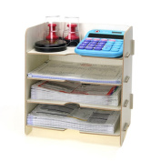 Menu Life Desk File Letter Trays Stacking Supports File Storage Cabinet Box A5 Size