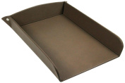 Lucrin - A4 Paper Tray - Dark Taupe - Smooth Leather