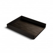 Lucrin - A4 Letter Tray - Brown - Smooth Leather