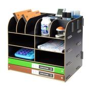 Menu Life Storage File Racks Cabinet Folder Wooden Desk Storage Box Pen Pencil Holder A5 Size Doucument Holder