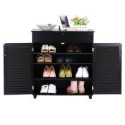 go2buy Shoe-Storage Cabinet,Black