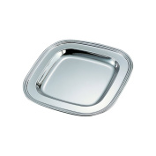 Creative Gifts 20cm Square Tray, Nickel Plated.