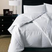 . - 300 TC Hypoallergenic Luxury Down Alternative White Comforter, Medium Warmth, Oversized King 270cm x 240cm