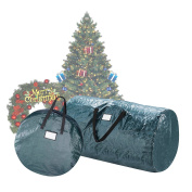Elf Stor Deluxe Green Christmas Tree Storage Bag & 80cm Inch Wreath Bag