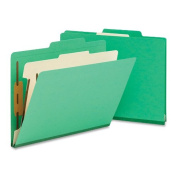 Smead Classification File Folder, 1 Divider, 5.1cm Expansion, Letter Size, Green, 10 per Box