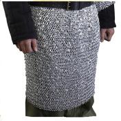 Souvenir India Mediaeval Armour Chainmail Skirt 10 mm Aluminium Round Riveted