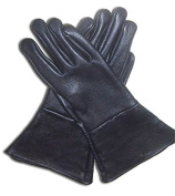 Leather Gauntlet Gloves Black 2X-Large Long Arm Cuff