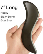 18cm Bian Stone Gua Sha Scraping Massage Tool, Great Heavy Stone Guasha Board for ASTYM,Graston & Myofascial Release, Reduce Muscles Soreness,Relax Joints & Trigger Point Treatment,Easy to Grip.