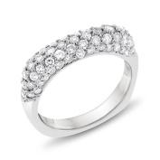 1.50 CT Natural Diamond Pave Wedding Band Ring Euro Shank 14k White Gold