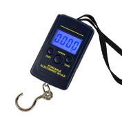 WiseField 88lb/40kg Hanging Scale Luggage Digital BackLight Fishing Pocket Weight, Dark Blue