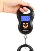 WiseField 110lb 50kg Electronic Digital Fish Luggage Hanging Hook Scale with Backlit Display