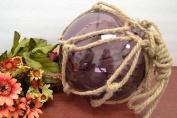 Purple Reproduction Glass Float Fishing Buoy Ball 20cm