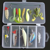VORCOOL Fishing Lures Soft Baits Fishing Lures Hooks Tackle - 16pcs
