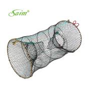 Saim Crab Crawfish Lobster Shrimp Collapsible Cast Bait Trap Nylon Net 25cm x 45cm