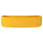 Suddora Head Sweatbands - Athletic Cotton Terry Cloth Headbands For Sports