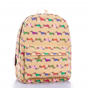 KISS GOLD(TM) Cute Cartoon Pattern Canvas Laptop Backpacks Knapsack