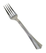 Reflections Heavyweight Plastic Utensils, Fork, Silver, 18cm , 40/pack