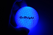 GoBright LED Light Up Golf Balls - Ultra Bright Glow In the Dark Night Golf Balls - Multi Colour Choice of Red, White, Blue, Green, Pink, Orange - Pack of 2, 3, 4, & 6