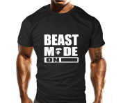 New Mens Beast Mode On Ape Gym T-Shirt - Training Top - Sports - Bodybuilding Casual Loose Fit Top