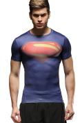Cody Lundin Men's Sports Fitness T-shirt, Men Superhero Compression Shirt, Short Sleeve Tights Tees