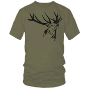 DEER hunting shooting stalking olive t-shirt FREE UK DELIVERY!