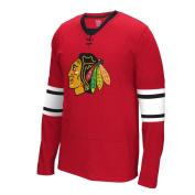 "Chicago Blackhawks Reebok NHL ""Face Off"" Long Sleeve Jersey Shirt"