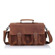 Gendi Mens Real Leather Laptop Briefcase Bag Satchel Shoulder Messenger Bags