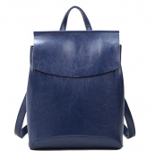 Yan Show Women's Leather Shoulder Bags Backpack Handbags /Blue