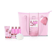 Baylis & Harding Pink Prosecco and Cassis Luxury Wash Bag Set