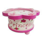 Princess Dancing Music Box - Pink Wooden Music Box with Magnetic Dolls - Kids Music Box Toy - Lucy Locket